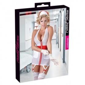 Travestimento infermiera mini abito da donna sexy lingerie hot intimo con reggi calze