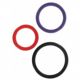 Kit 3pz anello fallico maschile sexy toys pene uomo contro eiaculazione precoce