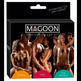 Set 3 pz olio per massaggi erotici sessuali di coppia profumati stimolante sexy