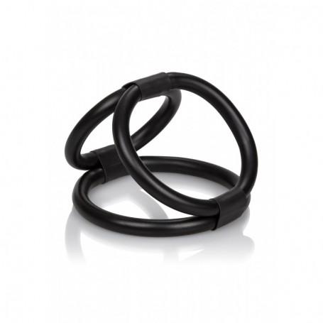 anello fallico nero per pene maschile stimolatore uomo in silicone ritardante