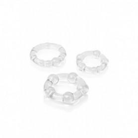 set 3 pz anelli fallici trasparenti per pene uomo stimolazione maschile sexy toys