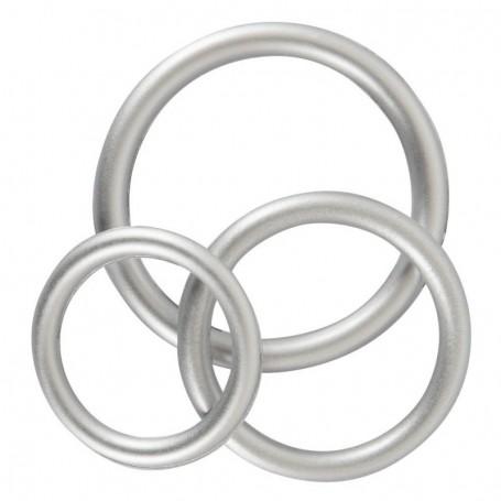 set anello fallico in silicone per pene e testicoli contro eiaculazione precoce
