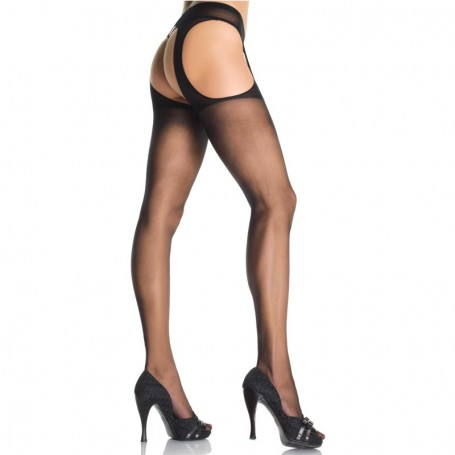 collant calze donna nero trasparente con apertura intima per donna sexy black