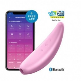 Stimolatore clitoride vaginale succhia vagina con app Satisfyer ricaricabile Curvy 3+