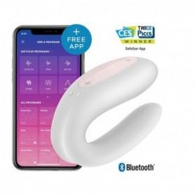 Vibratore doppio vaginale anale per coppia con app ricaricabile in silicone satisfyer