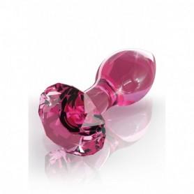 Plug anale dildo in vetro icicles no 79 fallo anal butt trasparente rosa glass