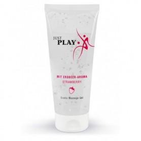 Lubrificante a base acqua vaginale anale intimo gel just play alla fragola 200 ml