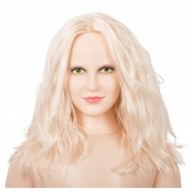 Bambola realistica gonfiabile con masturbatore vagina e ano in silicone sex doll