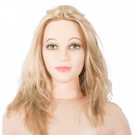 Bambola gonfiabile realistica shy camilla sexy doll con masturbatore vagina ano