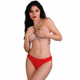 Mutanda in pizzo rosso slip trasparente sexy lingerie erotica donna intimo aperto