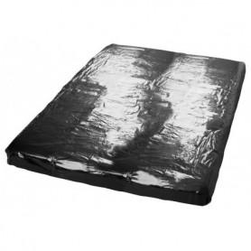 Telo coprimaterasso in vinile con angoli lenzuolo matrimoniale 220 x 220 cm nero