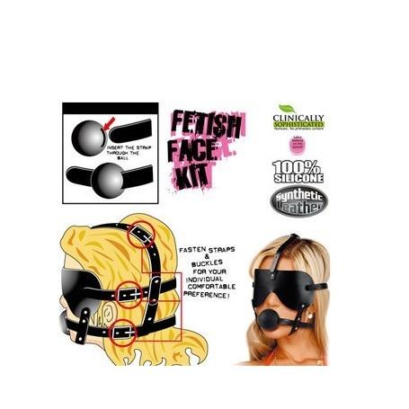 Maschera con morso fetish gag ball kit