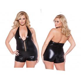 body donna nero intimo sexy aperto in poliestere elasticizzato