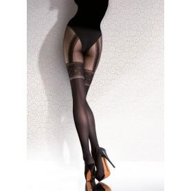 Collant calze donna Temida 40 den fiore effetto autoreggente sexy