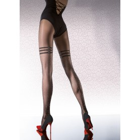 Collant calze donna Priscilla 40 den fiore  metallic hold