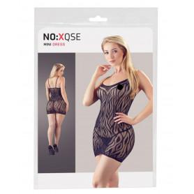 mini abito sexy vestitino donna con ricami in pizzo mini dress nero bodystocking