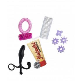 kit sex toy fallo prostata lubrificante con anelli fallici