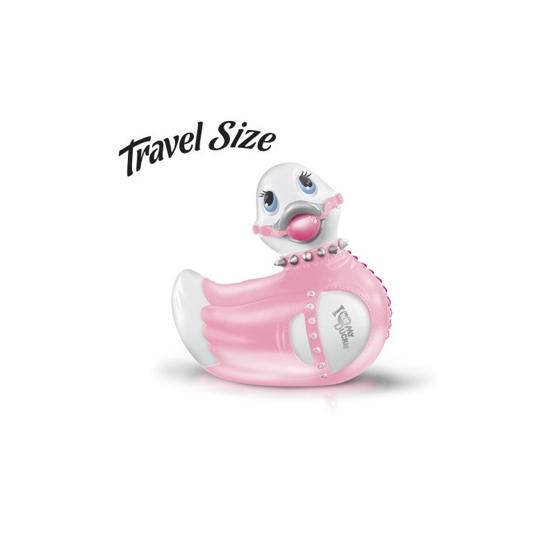 VIBRATORE I RUB MY DUCKIE BONDAGE WHITE/PINK TRAVEL SIZE