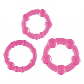 Kit 3 anelli fallici be on the ball dandy's bangle pink