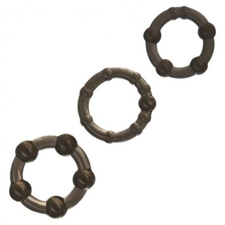 Set 3 anelli per pene contro eiaculazione precoce